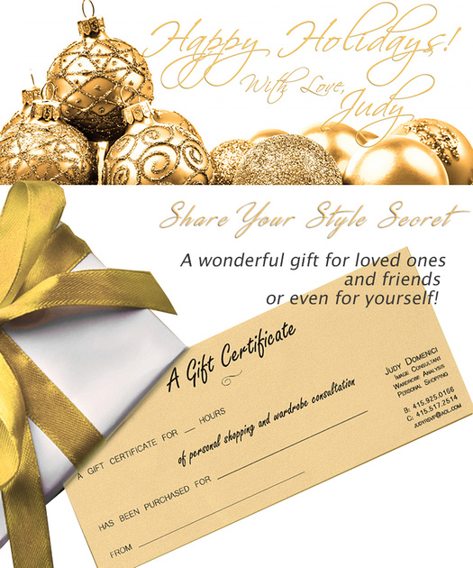 Time for Gift Certificates!!